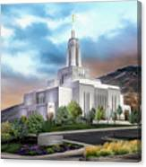 Draper Temple #4 Canvas Print