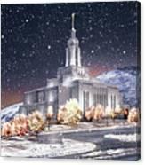 Draper Temple - First Snowfall Canvas Print