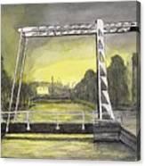 Draw Bridge In Meppel, Holland 2016 Canvas Print