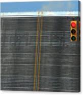 Drawbridge And Stoplight Canvas Print