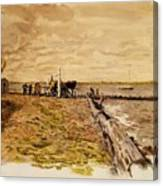 Drawing The Seine 1882 Canvas Print