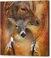 Dream Catcher - Autumn Deer Canvas Print