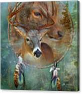 Dream Catcher - Spirit Of The Deer Canvas Print