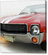 Amx Leaning-in Canvas Print