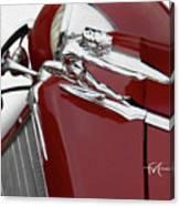 Beautiful Buick Babe Canvas Print