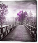Dreaming At Dawn In Pink Canvas Print