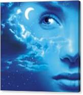 Dreaming, Conceptual Image Canvas Print