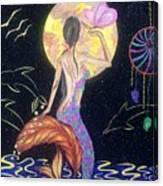Dreaming Mermaid Canvas Print