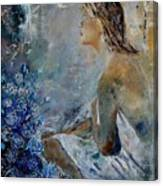 Dreaming Young Girl Canvas Print
