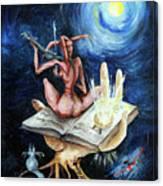 Dreams On A Moonlit Night Canvas Print