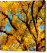 Dreamy Crisp Autumn Day Canvas Print
