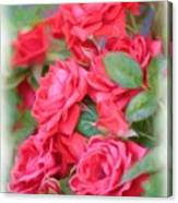 Dreamy Red Roses - Digital Art Canvas Print