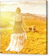 Dreamy Summer Fields Canvas Print