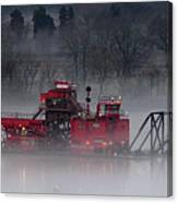 Dredge In Fog 2 Canvas Print