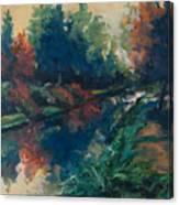 Drente Canal Canvas Print