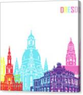 Dresden Skyline Pop Canvas Print