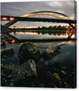 Dresden Waldschloesschenbridge Sunset Canvas Print
