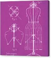 Dress Form Patent 1891 Pink Canvas Print