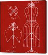 Dress Form Patent 1891 Red Canvas Print