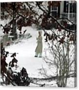 Dressed For Snow Canvas Print