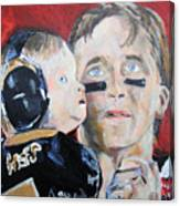 Drew Brees And Son  Canvas Print