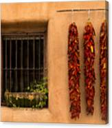 Dried Chilis And Window Canvas Print
