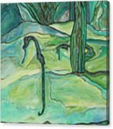 Drifting Seahorse Canvas Print