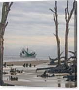 Driftwood Shrimper Canvas Print