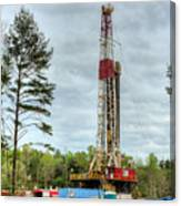 Drilling For Oil In South Alabama Canvas Print