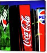 Drink Vending Machines Canvas Print