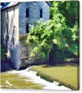 Drinkwater And Schriver Mill Cedar Point Kansas  Canvas Print