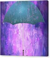 Dripping Poster Purple Rain Canvas Print