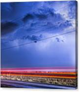 Drive By Lightning Strike Canvas Print