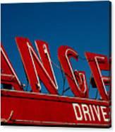 Drive In- California  Canvas Print
