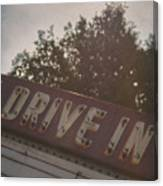 Drive In II Canvas Print