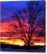 Driveby Shooting No. 8 - Valentine's Sunrise Canvas Print