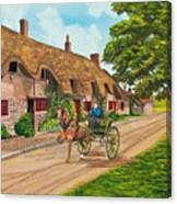 Driving A Jaunting Cart Canvas Print