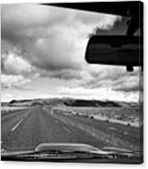 driving along the ring road Hringvegur in southern iceland Canvas Print