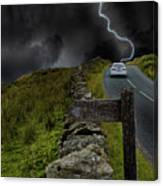 Driving Into The Storm Canvas Print