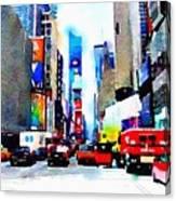 Driving Manhattan Canvas Print