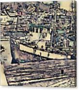 Drobak Harbor Canvas Print