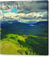Drone Shot At Walker Valley Canvas Print