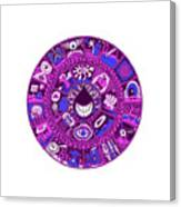 Drop Mandala Purple And Blue Canvas Print