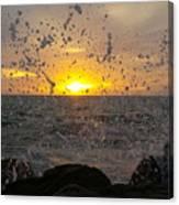 Drops, Sun And Sea Canvas Print