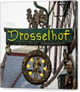 Drosselhof Neon Sign Canvas Print