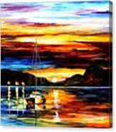 Drowned Sunset Canvas Print