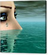Drowning In A Sea Of Tears Canvas Print