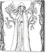 Druid Woman Shush Canvas Print
