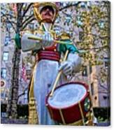 Drummer Boy  In Rockefeller Center Canvas Print