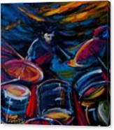 Drummer Craze Canvas Print